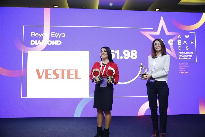 Vestel Müşteri Hizmetleri şikayetvar Ace Awards Diamond ödül